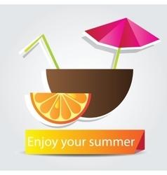 Orange Fruit cocktail vector image