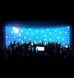 Blue of background crowd of party people vector
