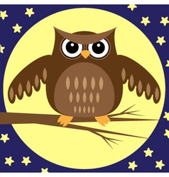 owl at night vector image