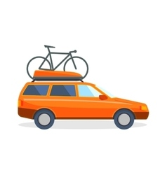 Travel by car flat summer vacation vector image