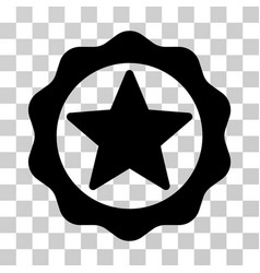 award star seal icon vector image vector image