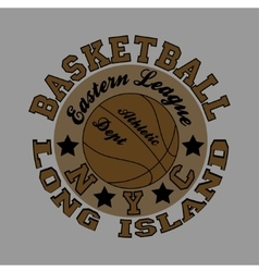 Basketball fashion typography sport vector