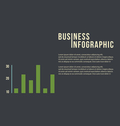 Business infographic concept with graph vector