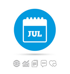 Calendar sign icon july month symbol vector