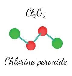 Cl2O2 chlorine peroxide molecule vector image vector image
