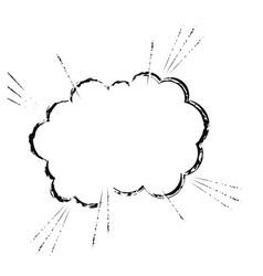 cloud comic speech chat sketch vector image vector image