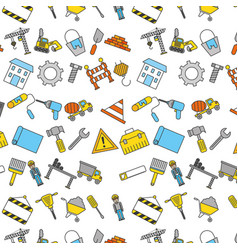 Construction tools pattern background vector