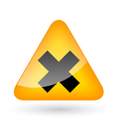 Error Cross Lines Symbol vector image vector image