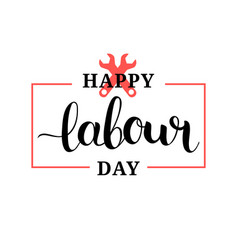 happy labour day concept with vector image
