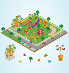 Isometric carnival vector