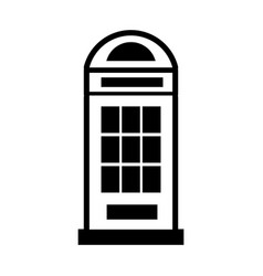 London phone cab isolated icon vector