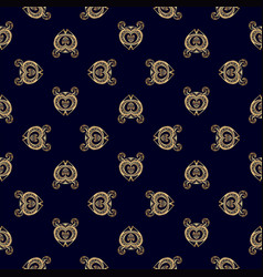 luxury golden royal pattern vector image vector image