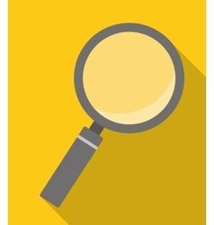 Magnifying glass over yellow background icon image vector