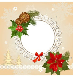 Ornamental christmas frame vector