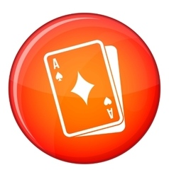 Playing card icon flat style vector image vector image