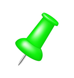 Push pin in green design vector