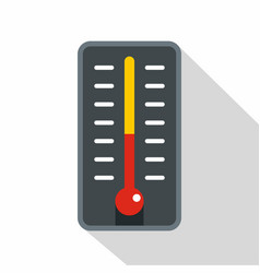 Room thermometer icon flat style vector