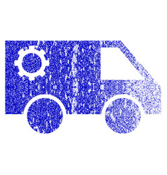 Service car grunge textured icon vector