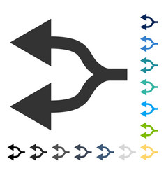 Split arrows left icon vector