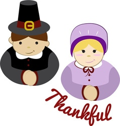 Thankful pilgrims vector