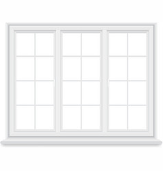 traditional big white window isolated vector image