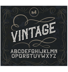 vintage label font alcohol label style vector image vector image