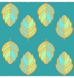 Vntage leaf pattern vector