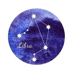 Watercolor horoscope sign Libra vector image