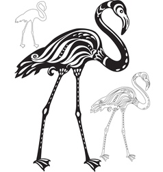 Decorative flamingo vector image