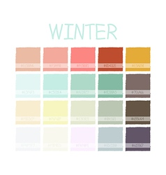 Winter color tone with code vector