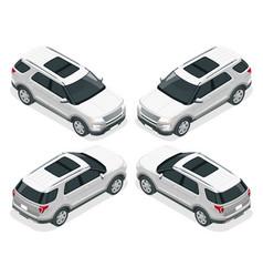 off-road write car modern vip transport flat 3d vector image