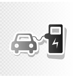 electric car battery charging sign  new vector image