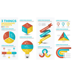 three things infographic elements vector image