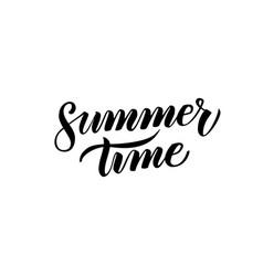 summer time handwritten calligraphy vector image