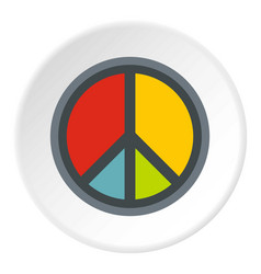 peace symbol icon circle vector image