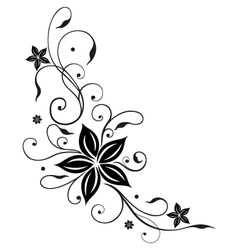 Abstract floral element vector image