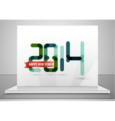 2014 Happy New Year design template vector image