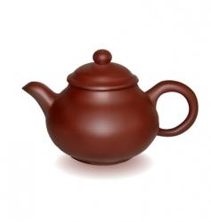 clay brewing teapot vector image