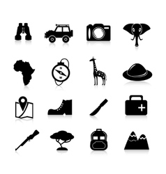 Safari icons black vector