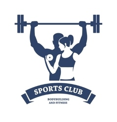 Fitness and Bodybuilding Club vector image
