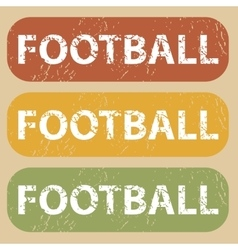 Vintage football stamp set vector