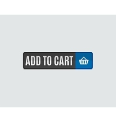 Add to cart web button online shopping flat vector