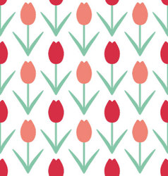 Tulips beautiful background vector