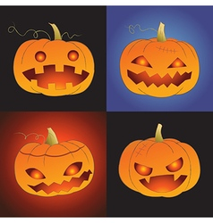 Set of pumpkin for halloween vector