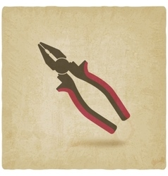 Pliers repair symbol old background vector