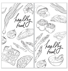 Healthy and hearty food organic restaurant banner vector