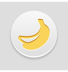 Banana icon fruit vector