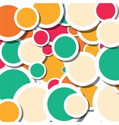 summer circles vector image