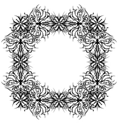 abstract pattern frame contour vector image vector image