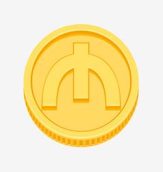 azerbaijani manat symbol on gold coin vector image